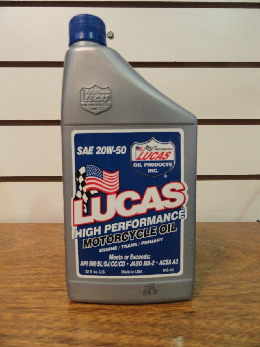 Aceite Lucas Oil 20w 50 Mineral Motorcycle Oil