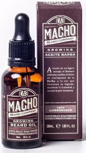 aceite macho + cera barbershop + 2 tonicos barba larga