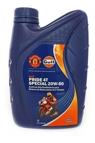 aceite marca gulf pride 4t special 20w-50 4lt zeta motos