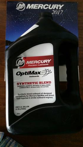 aceite marino  mercury optimax sintetico 2 tiempos galon