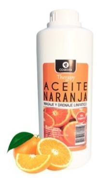 aceite masajes profesional naranja 1 litro masoterapia