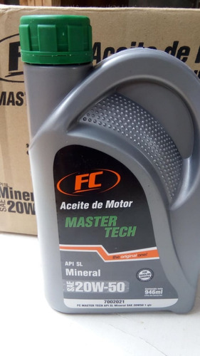 aceite master tech mineral 20w-50