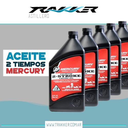 aceite mercury 2 tiempos - promoción caja de 6 unidades