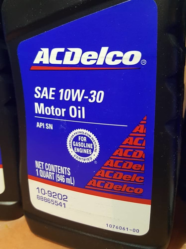 aceite mineral 10w 30 acdelco