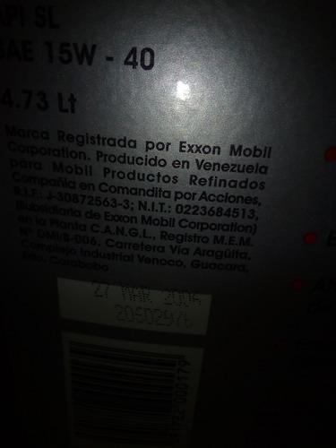 aceite mineral 15w40. 4 litros. súper móvil