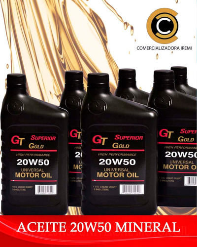aceite mineral 15w40 gold superior. nos volvimos locos
