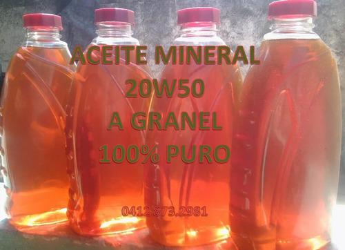 aceite mineral 20w50 a granel