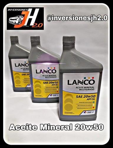 aceite mineral 20w50 sellado original tienda sabana grande