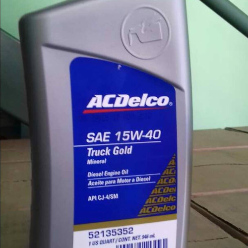 aceite mineral 20w50 y 15w40 acdelco