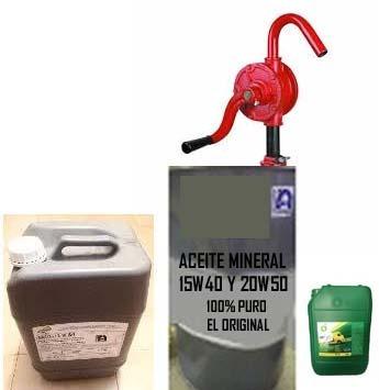 aceite mineral a granel 15w-40 y 20w-50