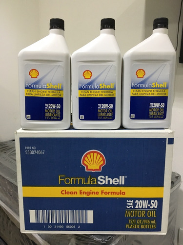 aceite mineral formula shell 20w50
