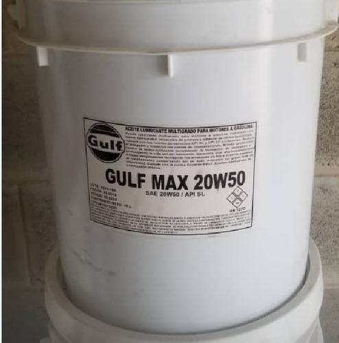 aceite mineral gasolina 20w50 calidad sl gulf pailas
