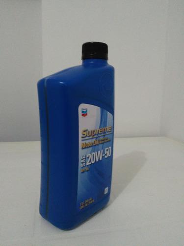 aceite mineral supreme sae 20w-50 chevron