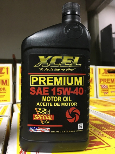 aceite mineral xcel 15w40 importado de usa, litro
