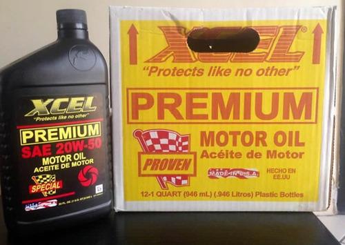 aceite mineral xcel 20w-50 y 15w-40 importados de usa .