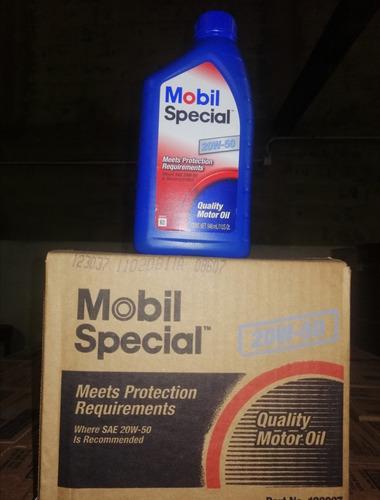 aceite mobil y chevron 20w-50