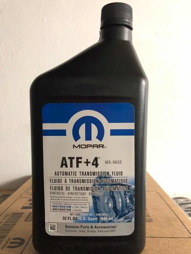 aceite mopar atf+4 transmisiones automáticas jeep chrysler.