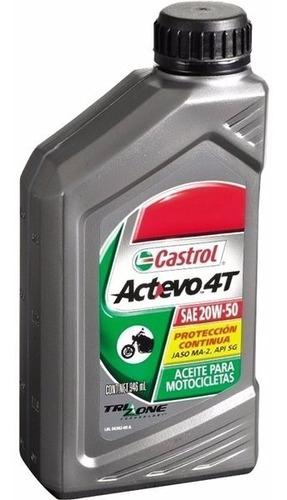 aceite moto castrol actevo 20 w 50 trizone 4t