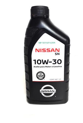 aceite motor bencina 10w30 sl 1lt original nissan nissan