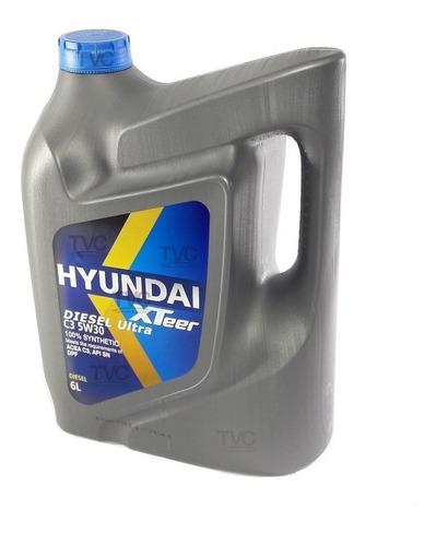 aceite motor hyundai xteer 5w30 100% sintetico 6lt dpf origi
