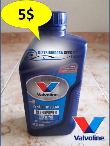 aceite motor valvoline semi-sintético 15w40 importado oferta