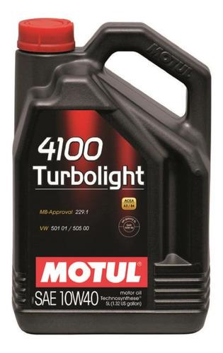 aceite motul 4100 10w40 turbolight x 5 lts.