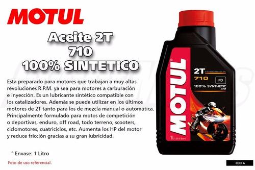 aceite motul 710 2 tiempo full sintetico
