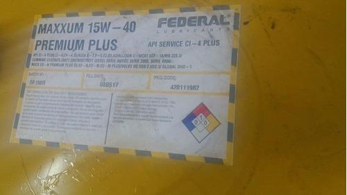 aceite multigrado 15w40 federal 55 galones 208 litros