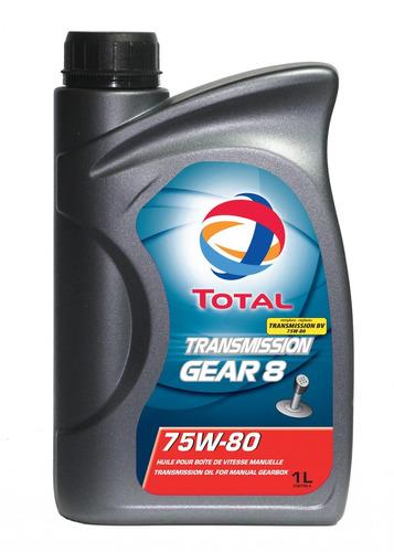 aceite multigrado cajas manuales total gear 8 75w-80 1l