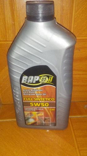 aceite multigrado full sintético 5w 50 bampoil