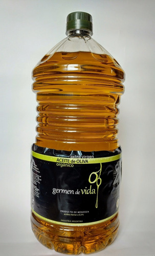 aceite oliva orgánico extra virgen 3l