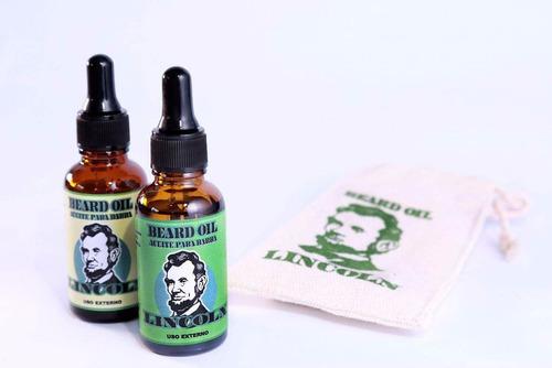 aceite para barba lincoln  crecimiento,nutre,fortalece,eeuu