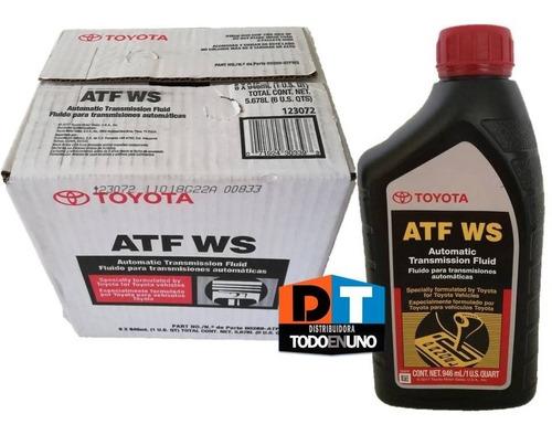 aceite para cajas atf ws toyota camry previa 2007 2008 2009