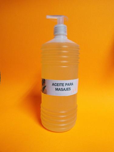 aceite para masajes 1 lt. melissa, jazmín,romero,lavanda,etc