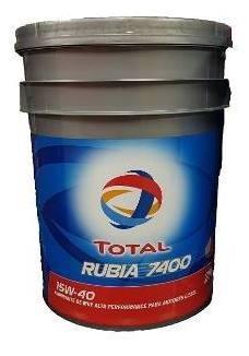 aceite para motor pesados rubia 7400 15w40 x 20 litros
