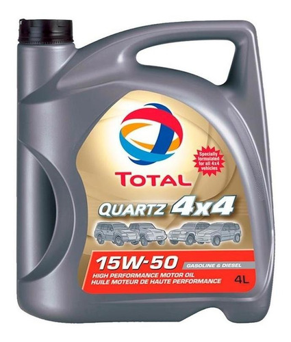 aceite para motor total quartz 4x4 15w50 1 litro