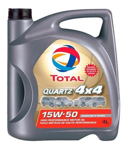 aceite para motor total quartz 4x4 15w50 4 litros