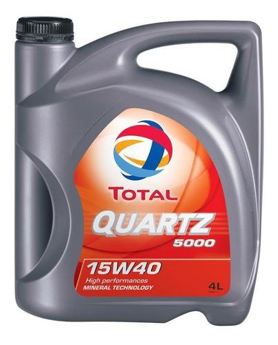 aceite para motor total quartz 5000 20w50 x 4 litros