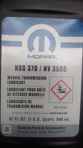 aceite para transmisión manual (estándar) mopar nsg-370