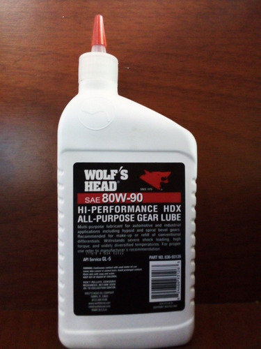 aceite para transmision y cajas sincronicas sae 80w90