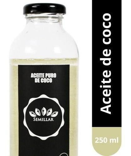 aceite puro de coco x 250 ml