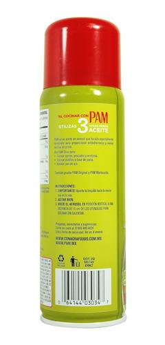 aceite puro de oliva pam original en aerosol 170 gr