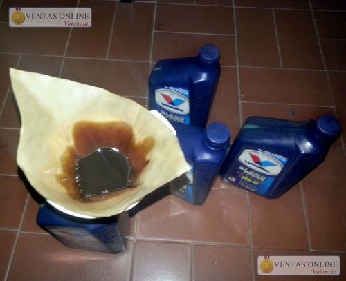 aceite quemado semi-sintentico 20-50 *filtrado* con 4.000 km
