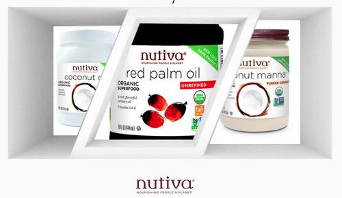 aceite rojo de palma organica marca nutiva 444 ml