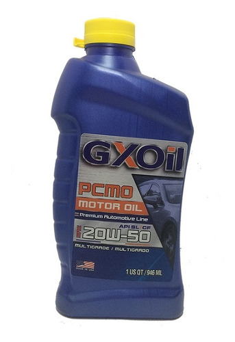 aceite sae 20w-50 mineral. 946ml gxoil