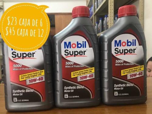 aceite semi sintético 10w40 / 15w40 mobil somos tienda