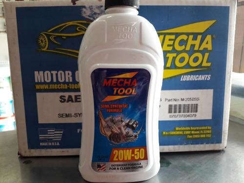 aceite semi sintetico 20w50 motor mecha tool americana 100%