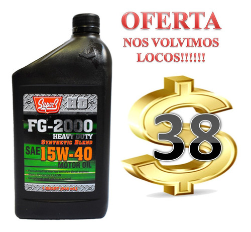 aceite semisintetico 15w-40 tek stars. nos volvimos locos