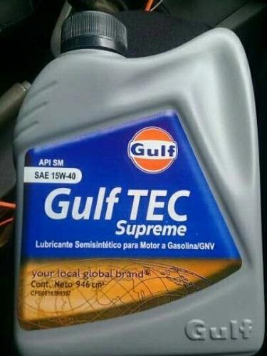 aceite semisintetico 15w40 marca gulf