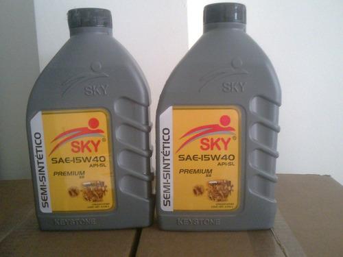 aceite semisintetico 15w40 sky